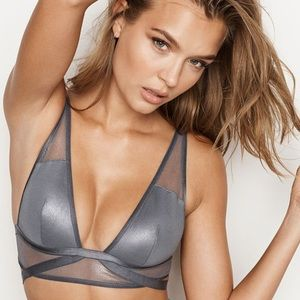 NWOT Victoria's Secret Metallic Strappy Bralette
